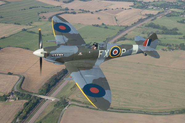 Spitfire over Kent aviation print without frame. Buy aviation photos, aviation prints online from Kent, UK