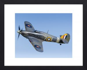 Sea Hurricane in black frame hurricane spitfire print for sale, aviation photos, aircraft prints to buy online.