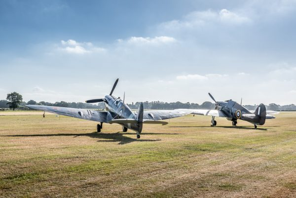 Spitfire and Hurricane at dawn aviation print unframed, aviation top photos, vintage airplane prints to buy at Topshotfoto.com